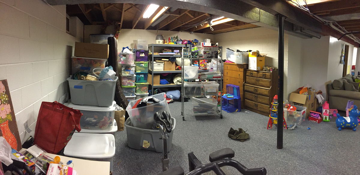 Basement Project - Before
